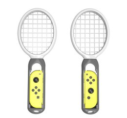 Discount game joy - 1 pair Tennis Racket Handle for Nintend Switch Joy-con TV game console for Ma rio Tennis ACE Games Game Accessories whol