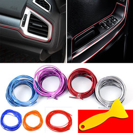 Moulding line online shopping - 5M bag Interior Decorative Line Strips Moulding Trim Dashboard Door Edge Universal For Car stickers Auto Accessories In Car Styling WX9