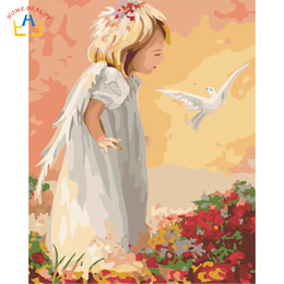$enCountryForm.capitalKeyWord NZ - Angle baby bird nordic pictures draw by numbers wall art canvas paintings for living room home decoration hand painted gift 6799