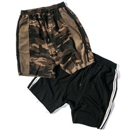$enCountryForm.capitalKeyWord NZ - Fashion Kanye Short Cross Pants Loose Pocket Sport Pants Casual Camouflage Black M-XL Short Mans Hip Hop Shorts