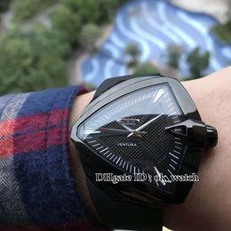 $enCountryForm.capitalKeyWord Australia - Ventura PVD Black Case Men's Watches 2824 Automatic Men Concept Design Triangular black dial H24655331 H24615331 XXL black Rubber Wristwatch