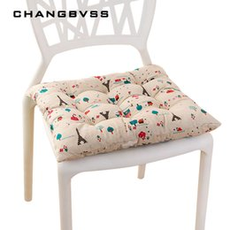 Green Office Chairs Australia - 40*40cm Cheap Soft Home Office Linen Outdoor Square Cotton Seat Pad Thicken Cushion Buttocks Chair Cushion Cojines Decorativos