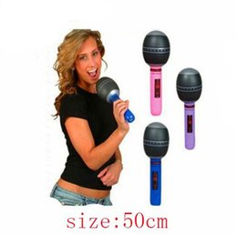 Inflatable guItar toys online shopping - Music inflatable toys model teaching AIDS microphone guitar speakers inflatable children s toys are welcome to buy