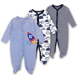China 3 PCS Brand Baby Girls Boys Romper Long Sleeves 100% Cotton Baby Pajamas Cartoon Printed Baby bodysuit Factory Cost Cheap Wholesale suppliers