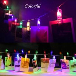 China 1.5M 2M 3M LED Photo Clip Holder LED String Lights For Christmas New Year Party Wedding Home Decoration Fairy Lights CCA10466 20pcs supplier photo clip string suppliers