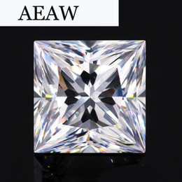 $enCountryForm.capitalKeyWord Australia - AEAW 0.8 Carat 5mm*5mm F Color Princess Cut Moissanite Lab Diamond Loose Stone Test Positive as Real Diamond S923
