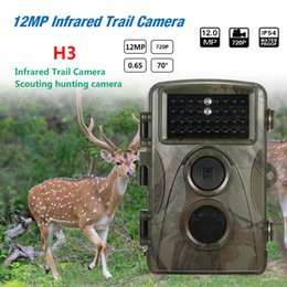 Mp Cables NZ - 12MP 720P Hunting Camera Waterproof Wild Trail Camera Infrared Night Vision Camera Animal Observation Recorder with Mount&Cable