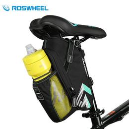 Roswheel Waterproof Cycling Bike NZ - ROSWHEEL Waterproof Bicycle Saddle Bag With Water Bottle Pocket MTB Bike Accessories Rear Bags Cycling Rear Seat Tail Bike Bags
