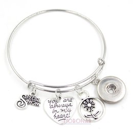 Special holiday giftS online shopping - Snap Jewelry DIY Interchangeable Special MOM Bracelet Wire Adjustable Bangle Mother Day Gift Jewelry for Mother MOM Gift