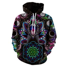 Tracksuits Jacket Canada - 3D Hoodies Men Women Sweatshrits Space KONGFU Monkey Printed Pullover Hot Sale Tracksuits 6xl Autumn Male Tracksuits Jackets