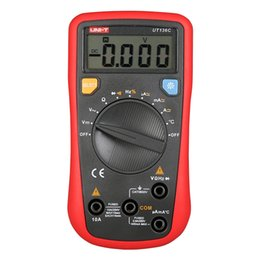 lcd ammeter voltmeter Canada - UNI-T Modern Digital Multimeters Auto Range Temperature Tests Continuity Buzzer Kinds of Measurement AC DC LCD Ammeter Voltmeter Current VB