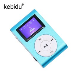 China Portable MP3 Music Players Digital LCD Screen Metal Mini Clip MP3 Player with Micro TF SD Slot with Earphone and USB Cable cheap earphone metal screen suppliers