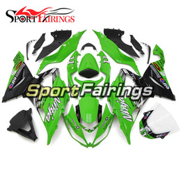 $enCountryForm.capitalKeyWord Australia - ABS Plastics Motorcycles Full Fairing Kit For Kawasaki ZX6R Year 2013 - 2017 14 15 16 17 Sportbike Bodywork Green Black Covers Best Quality
