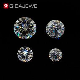 GH Cor Redonda Corte Moissanite Solta Gemstone Encantos Beads 3.5mm-8mm Para Fazer Jóias Moda Presente Da Amiga