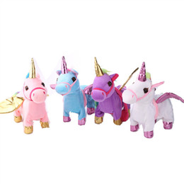 $enCountryForm.capitalKeyWord NZ - Fun Music Toys Electric Walking Unicorn Plush Toy With Rope Children Pegasus Doll Party Favor For Christmas Gifts 33jm Ww