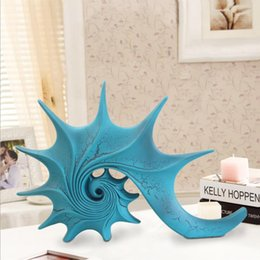 $enCountryForm.capitalKeyWord Australia - Longree Resin Sea Shell Figurines Vintage Design Resin Ornament Animal Figurine Home Decor Home Decoration Acccessories