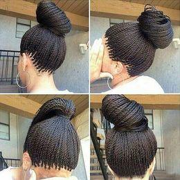 AfricAn brAided wigs online shopping - Micro Braided Lace Front Wigs Synthetic Lace Front Wig Hot Sale Wig Black Women African American Braided Havana Twist Lace Wig