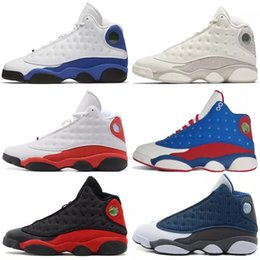 96cfed23b7fd43 Shoes Burgundy Italy Men NZ - Basketball Shoes 13 13s Chicago 3M GS Hyper  Royal Italy