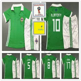 edf05455b Kids Northern Ireland Soccer Jersey 5 J.EVANS 8 DAVIS 10 K.LAFFERTY McNAIR  Men Women Youth 2018 World Cup Football Shirt Kit
