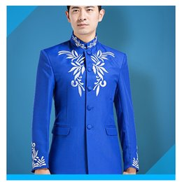 Trendy Clothing NZ - 2018 trendy male version of stage collar performance costumes clothes