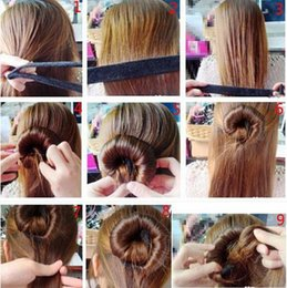 Magic Hair Wholesale NZ - Fast Shipping Wholesale 1PC Practice Hair Tools Roller Elegant Magic Style European Buns Curler Hair Accessories
