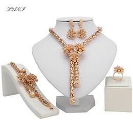 Chinese  Fani Quality Fashion Italian jewelry set Wholesale Dubai Gold colorful Jewelry sets Brand 2018 Fashion African Beads Set manufacturers
