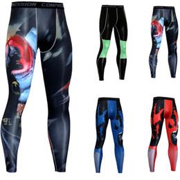 00eff420bc7ea0 Kompressions-Strumpfhosen-Männer der Männer männliche crossfit Eignung-Hosen  3D gedruckte Gamaschen-Muster 2018 neue Ankunfts-dünne Jogginghose DH042