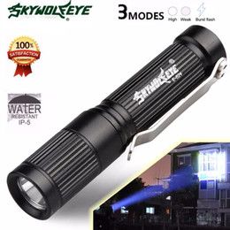 Wholesale 2018 Flashlights Cree Xpe Led E5 High Quality Waterproof Light Mini Tactical Flashlight lumens Modes for Aaa Batteries Torch Lamp