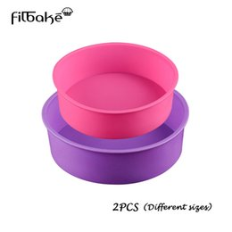 $enCountryForm.capitalKeyWord UK - wholesale Home Kitchen,Dining Pastry tools Round Silicone Mold Set 2 Layers Mousse Cake Moulds Baking Pan for Birthday Cake Molds