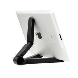 Discount adjustable support tablet - Foldable Tablet Stand Adjustable Universal 7~10 Inch Tablet Holder Folding Portable Pocket Support Holder for iPad HY01
