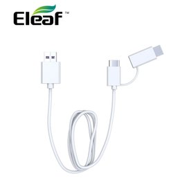 Charging Connector Types Australia - Eleaf QC 3.0 USB Charging Cable with Type-C connector & extra Micro USB adapter For E cig Charge