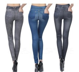 $enCountryForm.capitalKeyWord Canada - New Arrival Women Jean Skinny Jeggings Stretchy Slim Leggings Fashion Skinny Pants Leg Shaper Free Shipping
