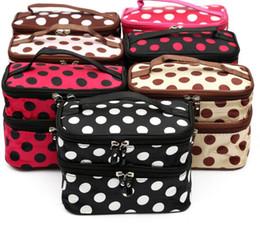 $enCountryForm.capitalKeyWord NZ - 2018 cute dot 2 layer cosmetic bag women travel necessaries Dot Bags Cosmetic Makeup Toiletry Storage Organizer Case