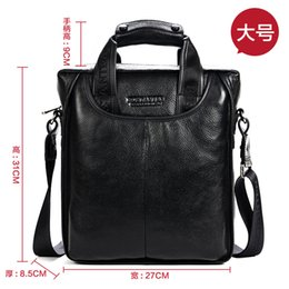 office bag for men leather 2019 - Mens Leather Shoulder Bag Handbags Briefcase for the Office Messenger Bag Large Enough to Hold iPad Air iPad Mini discou