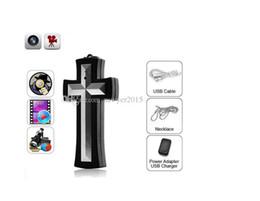 Mini necklace caMera online shopping - 8GB Cross Necklace pinhole Camera HD cross pendant camera DVR Digital Camcorder Mini DVR Camera voice video Recorder In retail box