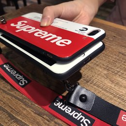 Wholesale 2019 New Phone Case for IPhone X S plus S Plus Plus Ultra Slim Thin Case with Subway Card Print Lanyard Attach To Edge Hole Color