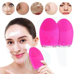 electric silicone massage 2019 - Mini Electric Facial Cleaning Massage Brush Washing Machine Waterproof Silicone Facial Cleansing Devices Tools discount