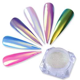 Chinese  BORN PRETTY 0.2g Neon Unicorn Nail Glitter Powder Chameleon Mermaid Mirror Pigment Chrome Dust Powder UV Nail Art Decoration manufacturers