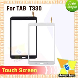 Samsung Tab4 Australia - 50pcs lot High Quality Front Touch Screen Outer Glass Lens For Samsung GALAXY Tab4 SM-T330 SM-T331 Touch screen DHL Free Shiping