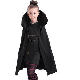 Girls fancy t shirts online shopping - Cartoon Hotel Transylvania Mavis Cosplay Costume Fancy Girls Black Cape Coat With T shirt pants Halloween kids adult Costume