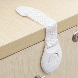Drawer Kids NZ - Child Safety Lock Infant Baby Kids Refrigerator Toilet Drawer Door Cabinet Cupboard Toddler Locks Hand Tools 1000pcs AAA685