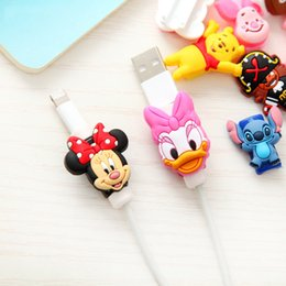 China Cartoon Protector Cable Cord Saver Cover for iPhone 4 4S 5 5S SE 5C 6 6S 7 8 Plus X Protective Sleeve Phone Case Cable suppliers