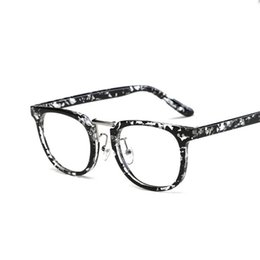 6e9fe09ff5 2018 Hot Sale Vintage Glasses Frame Men Women Fashion Oval Eyeglasses For  Men And Women Optics Clear Glasses 4 colors available