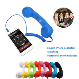 PoPs mobile online shopping - 3 mm Retro POP Cell Phone Headset Handset Handsets telephone receiver For iPhone smart mobile phone and tablets DHL FEDEX EMS