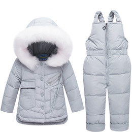 $enCountryForm.capitalKeyWord Canada - Children's Clothing Set Duck Down Jacket Coat for Girls Snow Wear Kids Jacket + Pant 2pcs Winter Jacket for Boy Baby Parkas Suit