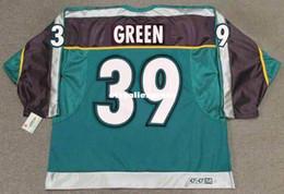 mighty ducks jersey custom 2019 - custom Mens TRAVIS GREEN Anaheim Mighty  Ducks 1997 CCM Jerseys 39f81b7d3