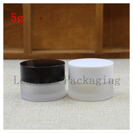cosmetic beauty jars Australia - 5 g of Frosted Glass Jars With The Lid of The Black White Beauty Cream Bottle Cosmetics Packing Bottle ,Empty Glass Bottle