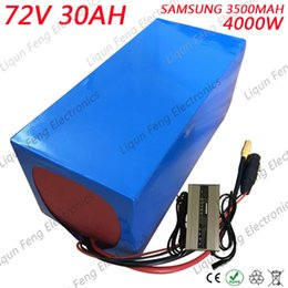 Electric 72v Battery Australia - 4000W 72V 30AH Electric Motorcycle li-ion Battery Pack 72V EBike lithium ion battery Use SAMSUNG 3500MAH Cell 80A BMS 5A Charger