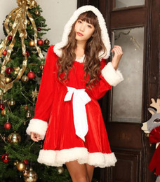 sexy girls suits NZ - Girls Christmas Costumes Sexy Maid Waitress Uniforms Women Dress Red Clothing Christmas Performance Costume Cosplay Dress