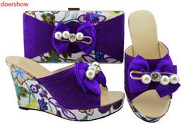 Vente en gros Chaussures italiennes de conception et sac assortis à des chaussures africaines et à un ensemble de sacs pour les femmes nigérianes à la fête